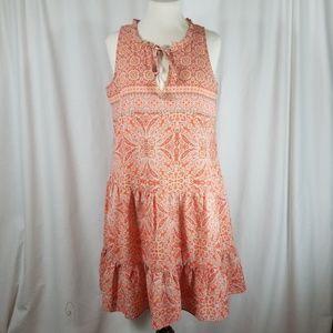 Sanctuary Sz Medium Boho Tie Neck Drop Waist Dress